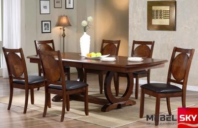 большой обеденный стол в гостиную