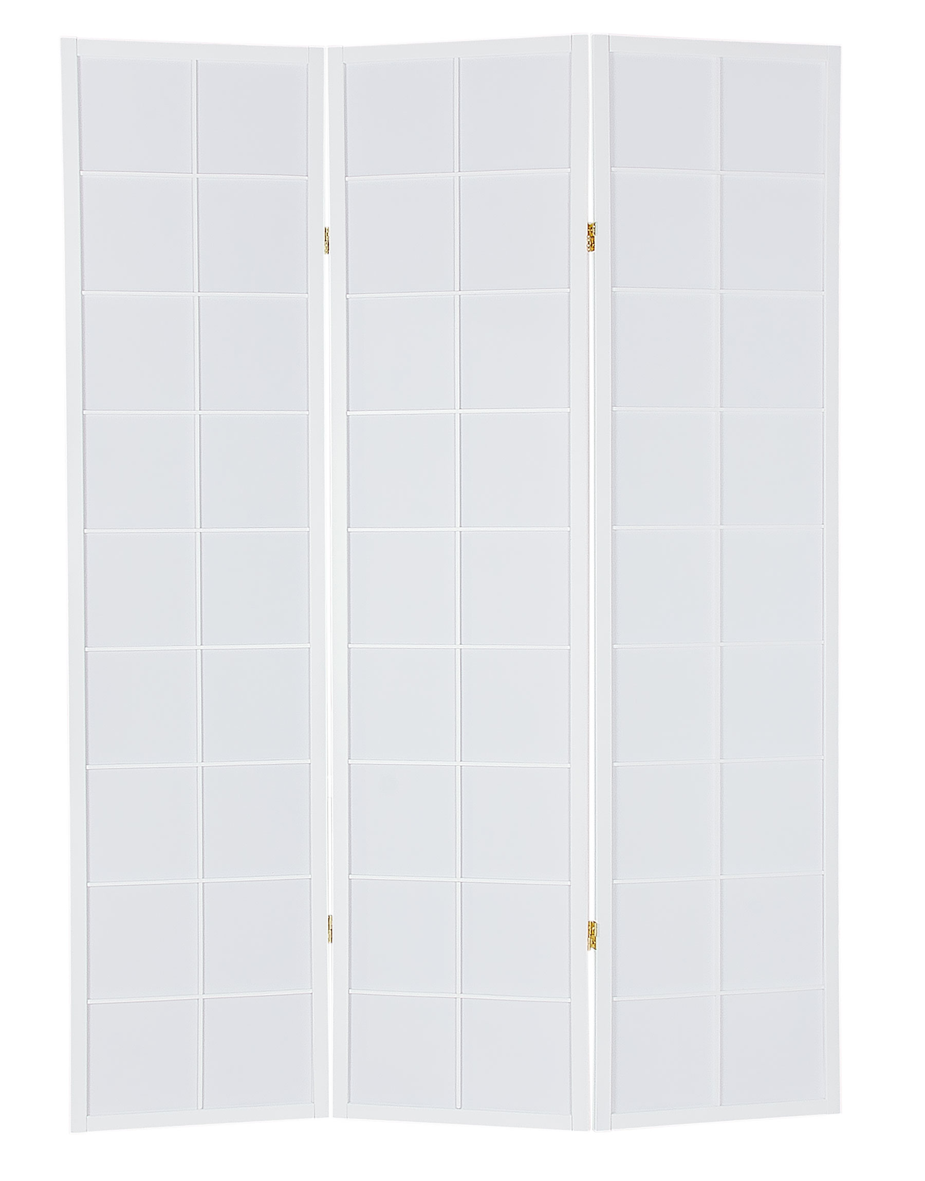 Декоративная ширма белого цвета (3-5 панелей)