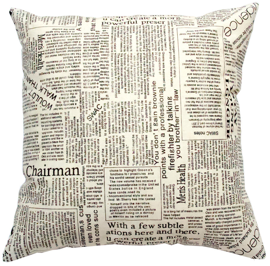 Декоративная подушка Газета