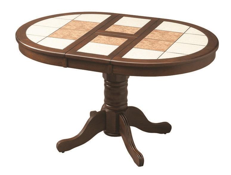Круглый обеденный стол с плиткой Zen
