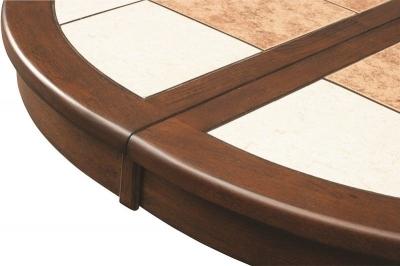 круглый стол с плиткой