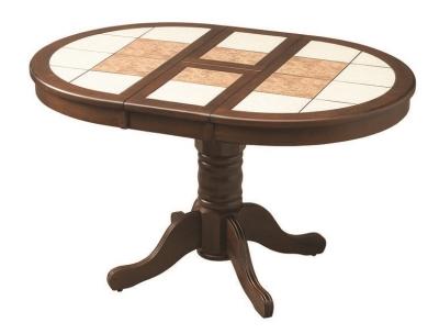 стол круглый с плиткой